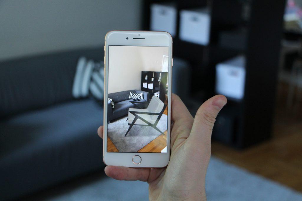 AR App Furniture WebAR Armchair Digital Augmented Reality